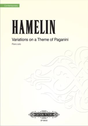Marc André Hamelin - Variations on a Paganini Theme - Sheet Music - di-arezzo.co.uk