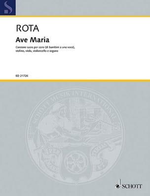 Ave Maria - Nino Rota - Partition - Chœur - laflutedepan.com