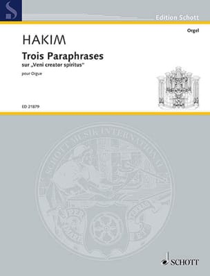 Naji Hakim - 3 Paraphrases - Partition - di-arezzo.fr