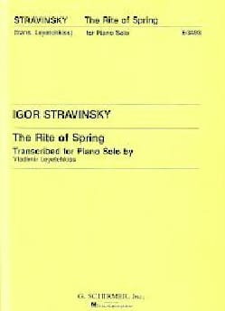 Igor Stravinski - The Rite of Spring. - Sheet Music - di-arezzo.co.uk