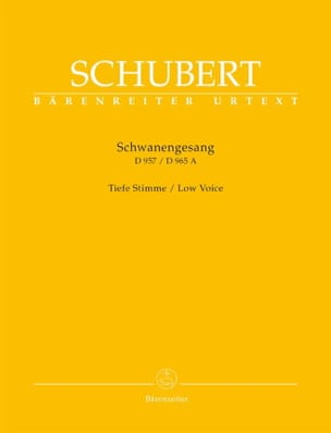 SCHUBERT - Schwanengesang. Deep voice - Sheet Music - di-arezzo.co.uk