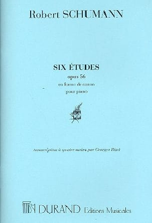 SCHUMANN - Studies in the form of a cannon op. 56. 4 hands - Sheet Music - di-arezzo.co.uk