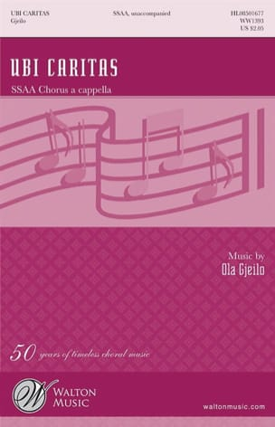Ola Gjeilo - Ubi Caritas. SSAA - Sheet Music - di-arezzo.com