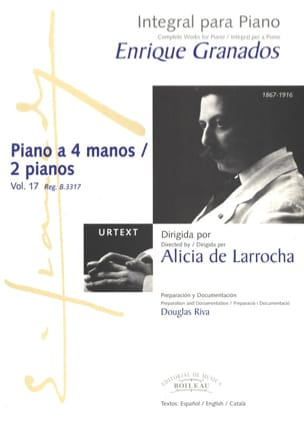 Enrique Granados - Works for piano with 4 hands or 2 pianos - Sheet Music - di-arezzo.co.uk