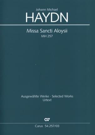 Johann Michael Haydn - Missa Sancti Aloysii. MH 257 - Partition - di-arezzo.fr