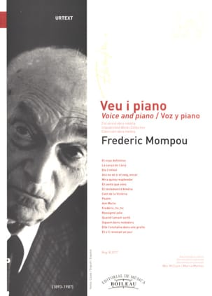 Voz y piano - Federico Mompou - Partition - laflutedepan.com