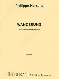 Philippe Hersant - Wanderung - Sheet Music - di-arezzo.co.uk