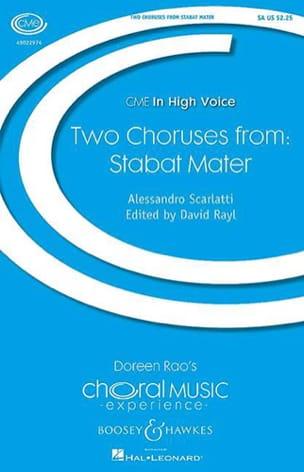 Alessandro Scarlatti - 2 choeurs. Stabat mater - Partition - di-arezzo.fr