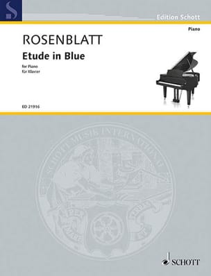 Etude in blue Alexander Rosenblatt Partition Piano - laflutedepan