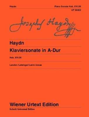 Joseph Haydn - Sonate en la majeur Hob 16-26 - Partition - di-arezzo.fr
