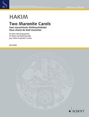 Naji Hakim - 2 Maronite Carols - Sheet Music - di-arezzo.com