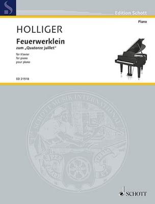 Feuerwerklein Heinz Holliger Partition Piano - laflutedepan