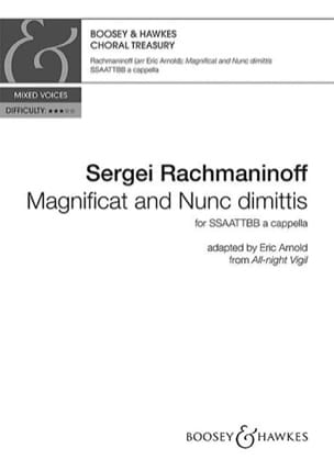 RACHMANINOV - Magnificat and Nunc Dimittis - Sheet Music - di-arezzo.com