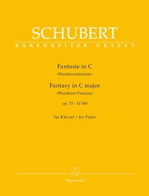 Franz Schubert - Fantaisie en Do Majeur Opus 15 D 760 - Partition - di-arezzo.fr