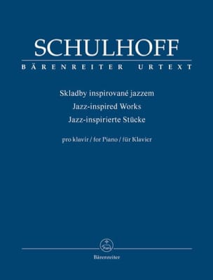 Erwin Schulhoff - Jazz inspired works - Partition - di-arezzo.fr