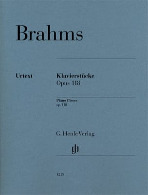 BRAHMS - Klavierstücke Opus 118 - Sheet Music - di-arezzo.co.uk