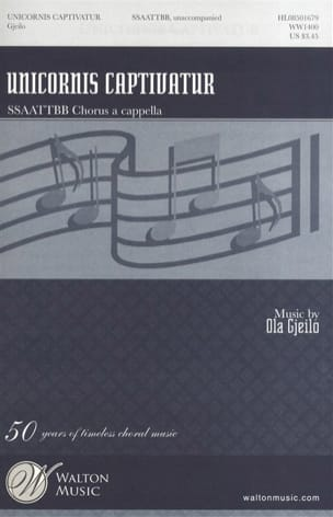 Ola Gjeilo - Unicornis Captivatur - Partitura - di-arezzo.es