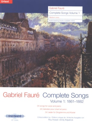 Gabriel Fauré - Complete songs Volume 1 Average Voice - Sheet Music - di-arezzo.co.uk