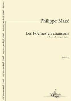 Philippe Mazé - Les poèmes en chansons - Partition - di-arezzo.fr