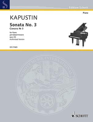 Nikolai Kapustin - Sonate pour Piano n° 3 Opus 55 - Partition - di-arezzo.fr