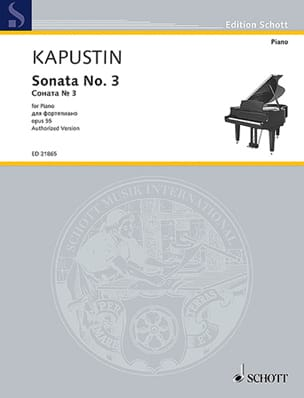 Sonate pour Piano n° 3 Opus 55 Nikolai Kapustin Partition laflutedepan