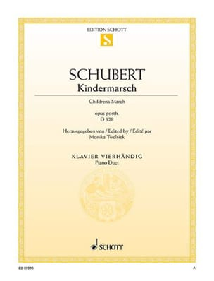 SCHUBERT - Kindermarsch D 928 - Sheet Music - di-arezzo.co.uk