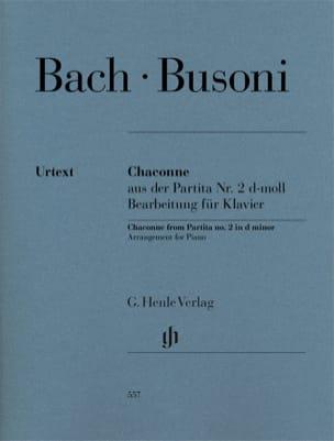 Bach Jean-Sébastien / Busoni Ferruccio - Chaconne BWV 1004 - Partitura - di-arezzo.es