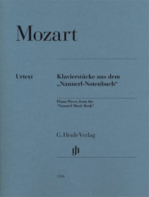 MOZART - Piano pieces from the Nannerl music book - Partition - di-arezzo.fr