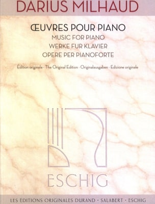 Oeuvres pour piano MILHAUD Partition Piano - laflutedepan