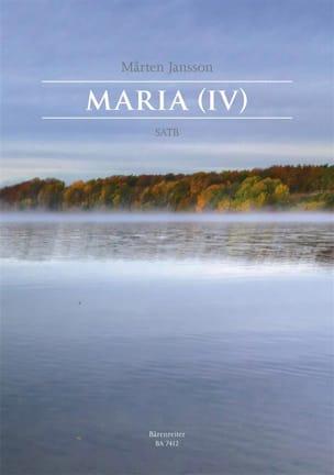 Maria IV Marten Jansson Partition Chœur - laflutedepan