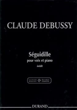 DEBUSSY - Seguidille - Sheet Music - di-arezzo.co.uk