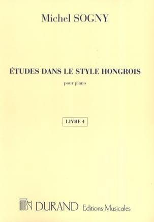 Etudes Dans le Style Hongrois Livre 4 Michel Sogny laflutedepan