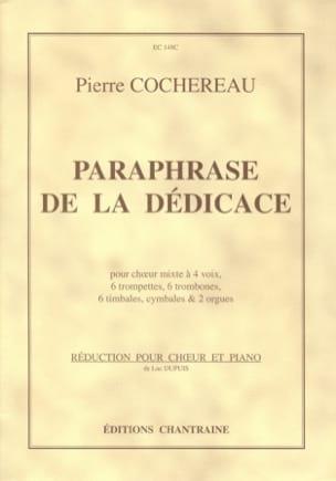 Paraphrase de la dédicace - Pierre Cochereau - laflutedepan.com