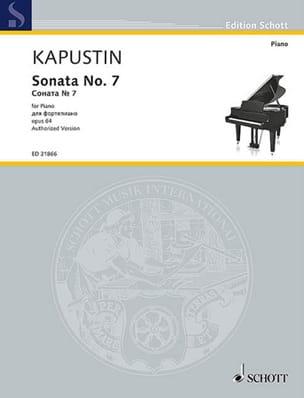 Nikolai Kapustin - Sonate pour Piano n° 7 Opus 64 - Partition - di-arezzo.fr