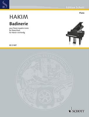 Badinerie - Naji Hakim - Partition - Piano - laflutedepan.com