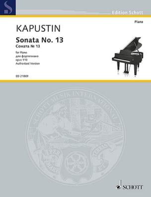 Nikolai Kapustin - Sonata for Piano No. 13 Opus 110 - Sheet Music - di-arezzo.com