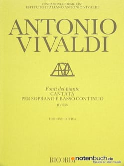 VIVALDI - Fonti del pianto. RV 656 - Partition - di-arezzo.com