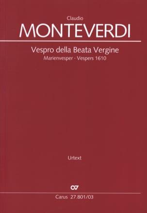 Vespro della Beata vergine - MONTEVERDI - Partition - laflutedepan.com