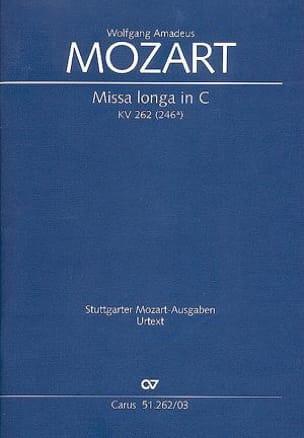 MOZART - Missa Longa. Do Major K 262 246a - Sheet Music - di-arezzo.co.uk