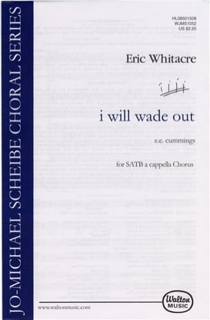 Eric Whitacre - I will wade out - Partition - di-arezzo.fr