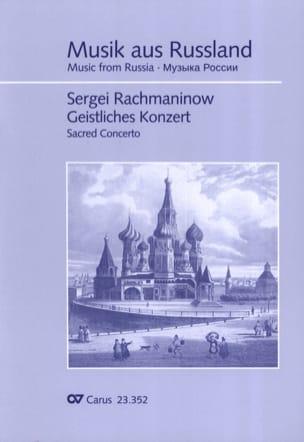 Geistliches Konzert RACHMANINOV Partition Chœur - laflutedepan