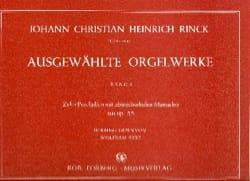 Johann Christian Heinrich Rinck - Ausgewahlte Orgelwerke. Volume 1 - Partition - di-arezzo.fr
