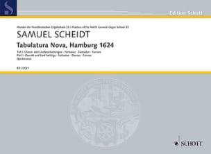 Tabulatura Nova, Hamburg 1624 volume 1 Samuel Scheidt laflutedepan