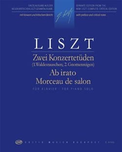 Franz Liszt - 2 études de concert / Ab irato / morceau de salon - Partition - di-arezzo.fr