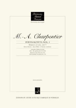 Motets à 2 voix. Volume 5 CHARPENTIER Partition Duos - laflutedepan