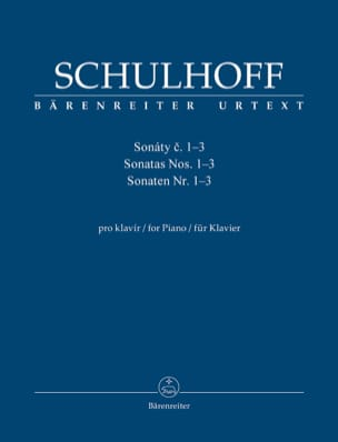 Sonates pour piano 1 à 3 - Erwin Schulhoff - laflutedepan.com