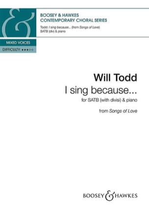 Will Todd - I sing because - Partition - di-arezzo.fr