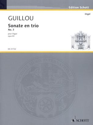 Sonate en trio n° 3 op. 83 - Jean Guillou - laflutedepan.com