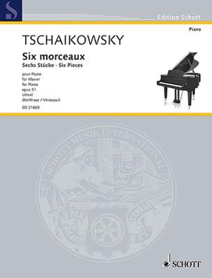 6 morceaux Opus 51 - Piotr Illitch Tchaikovsky - laflutedepan.com
