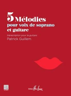 - 5 mélodies pour soprano et guitare - Partition - di-arezzo.fr
